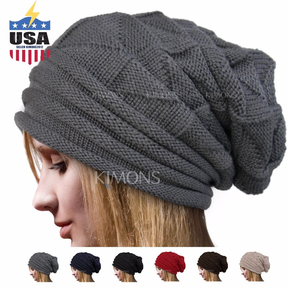 Awesome Knit Men S Women S Baggy Beanie Oversize Winter Hat Ski Slouchy Beanie Hat Of Incredible 40 Ideas Slouchy Beanie Hat