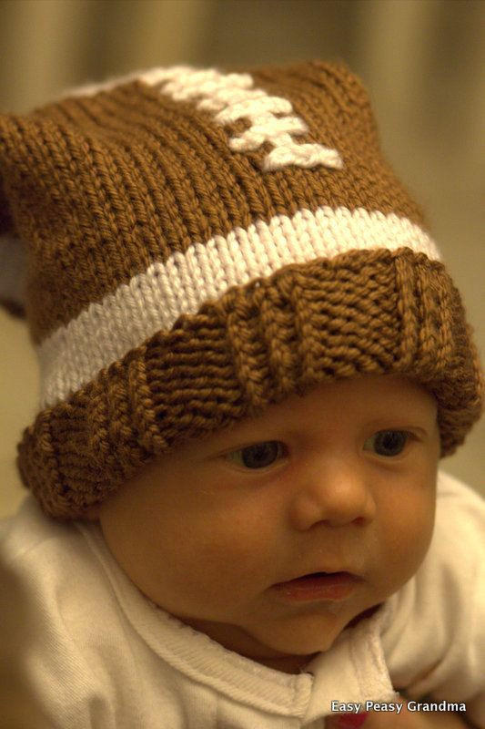 Awesome Knit Pattern Hat Football Slouch Beanie Cap 5 Sizes Baby Beanie Knitting Pattern Of Innovative 49 Pics Baby Beanie Knitting Pattern