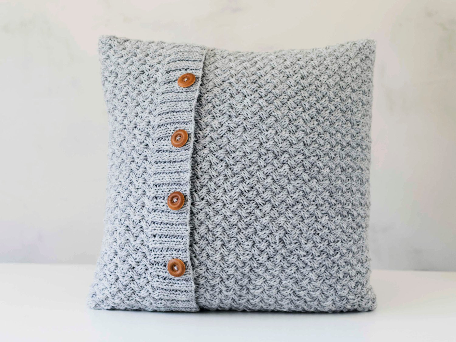 Awesome Knit Pillow Grey Knitted Chunky Pillow Scandinavian Style Knit Pillow Cover Pattern Of Amazing 45 Pics Knit Pillow Cover Pattern