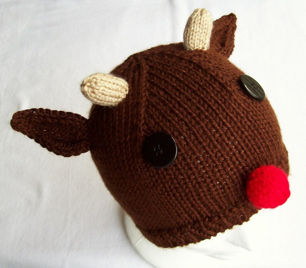 Awesome Knit Rudolph Hat Knitted Christmas Hats Of Adorable 50 Models Knitted Christmas Hats