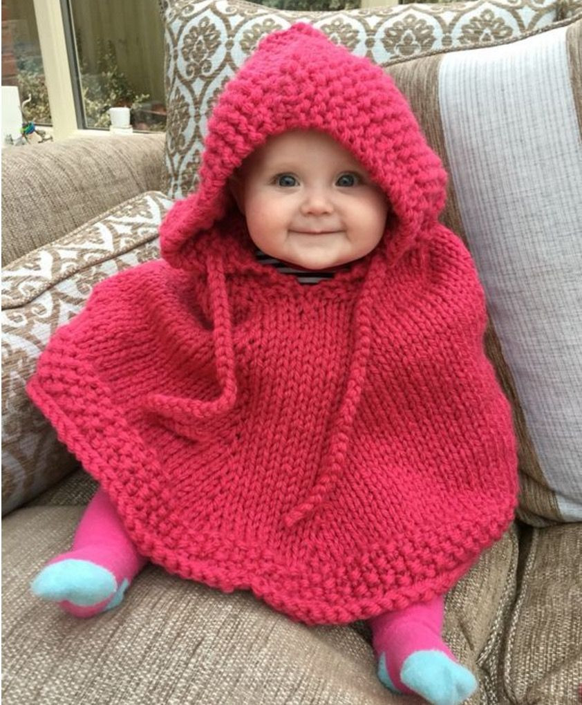 Awesome Knitted Hooded Baby Poncho Pattern Free Baby Poncho Crochet Pattern Of Attractive 40 Photos Baby Poncho Crochet Pattern