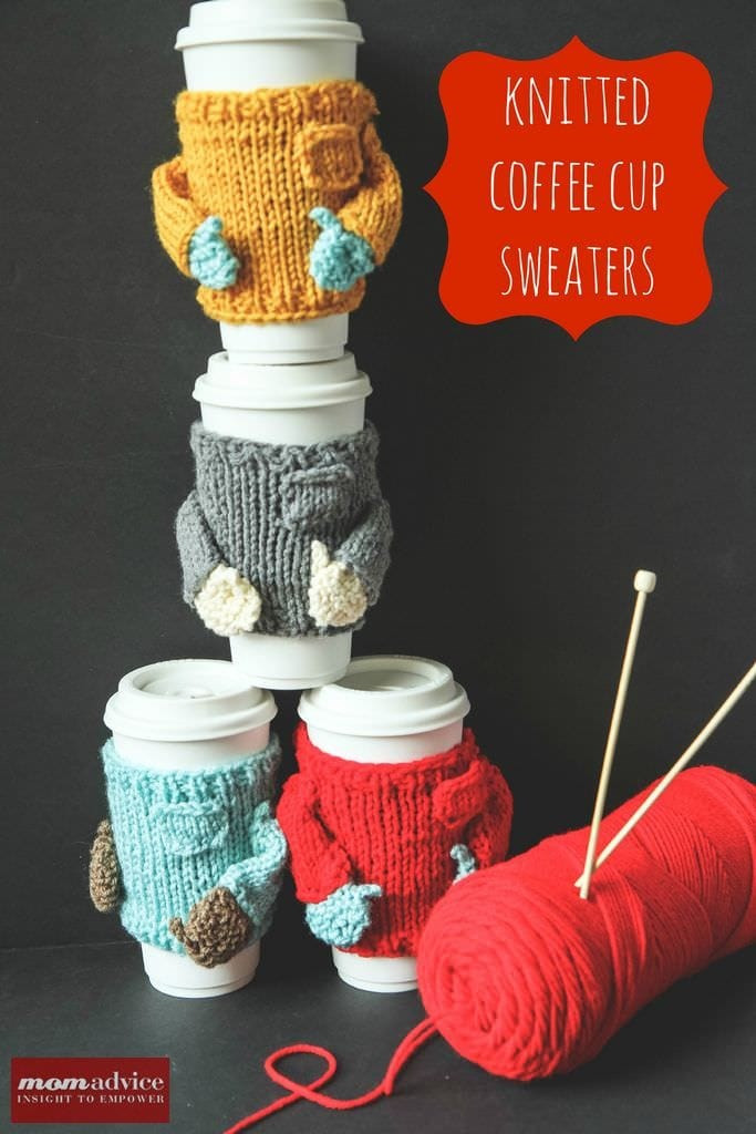 Awesome Knitted Sweater Coffee Cozies Momadvice Knitted Mug Cozy Of Unique 48 Photos Knitted Mug Cozy