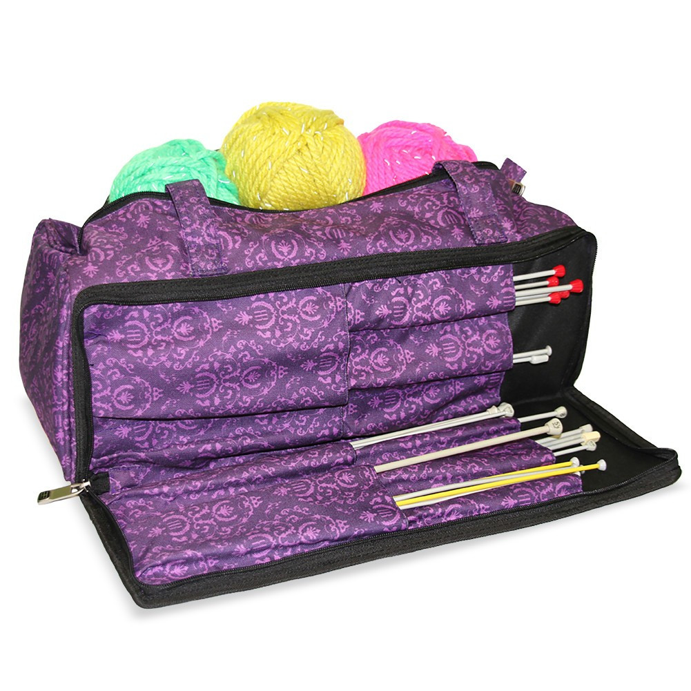 Awesome Knitting and Sewing Storage Bag Imperial Purple Knitting Knitting Bags and totes Of Marvelous 48 Ideas Knitting Bags and totes