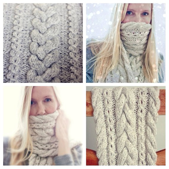 Awesome Knitting Pattern Braided Infinity Scarf Cowl Cable Knit Cable Knit Scarf Of Delightful 48 Ideas Cable Knit Scarf