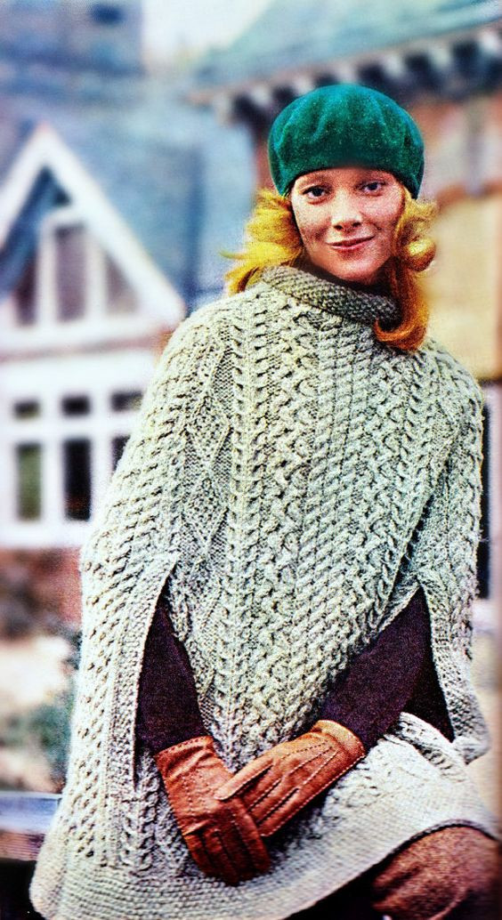Awesome Knitting Pattern for Cape Sweater Poncho Shawl In Aran Irish Knitting Patterns Of Amazing 50 Pictures Irish Knitting Patterns