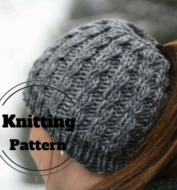 Awesome Knitting Pattern for Faux Cable Messy Bun Hat Easy Ponytail Beanie Pattern Of Adorable 50 Models Ponytail Beanie Pattern