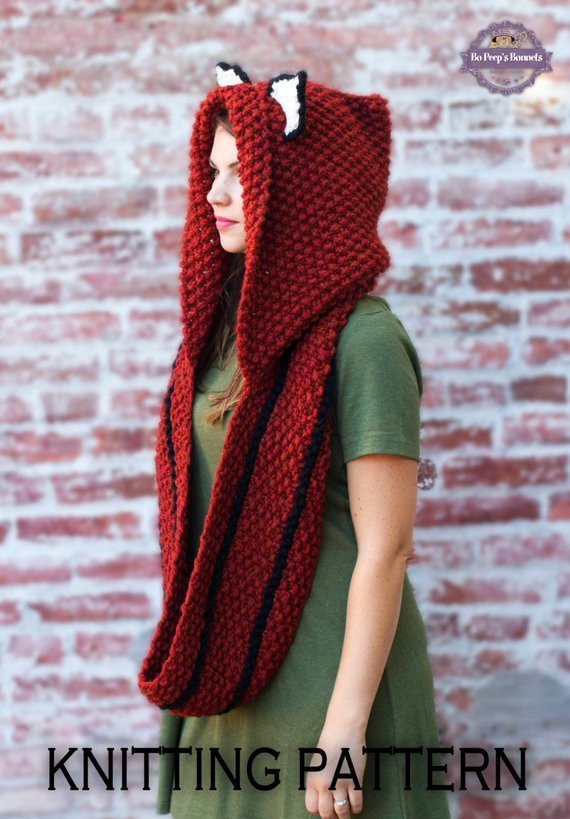 Awesome Knitting Pattern Fox Cowl Hooded Scarf Knitting Pattern Hooded Scarf Knitting Pattern Of Delightful 48 Pictures Hooded Scarf Knitting Pattern
