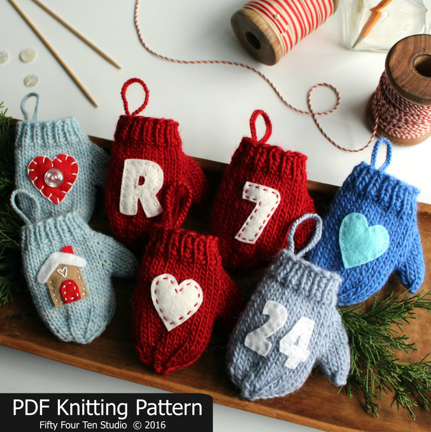 Awesome Knitting Pattern Mitten Christmas ornament Quick Knit Knitted Christmas ornaments Of Incredible 50 Models Knitted Christmas ornaments