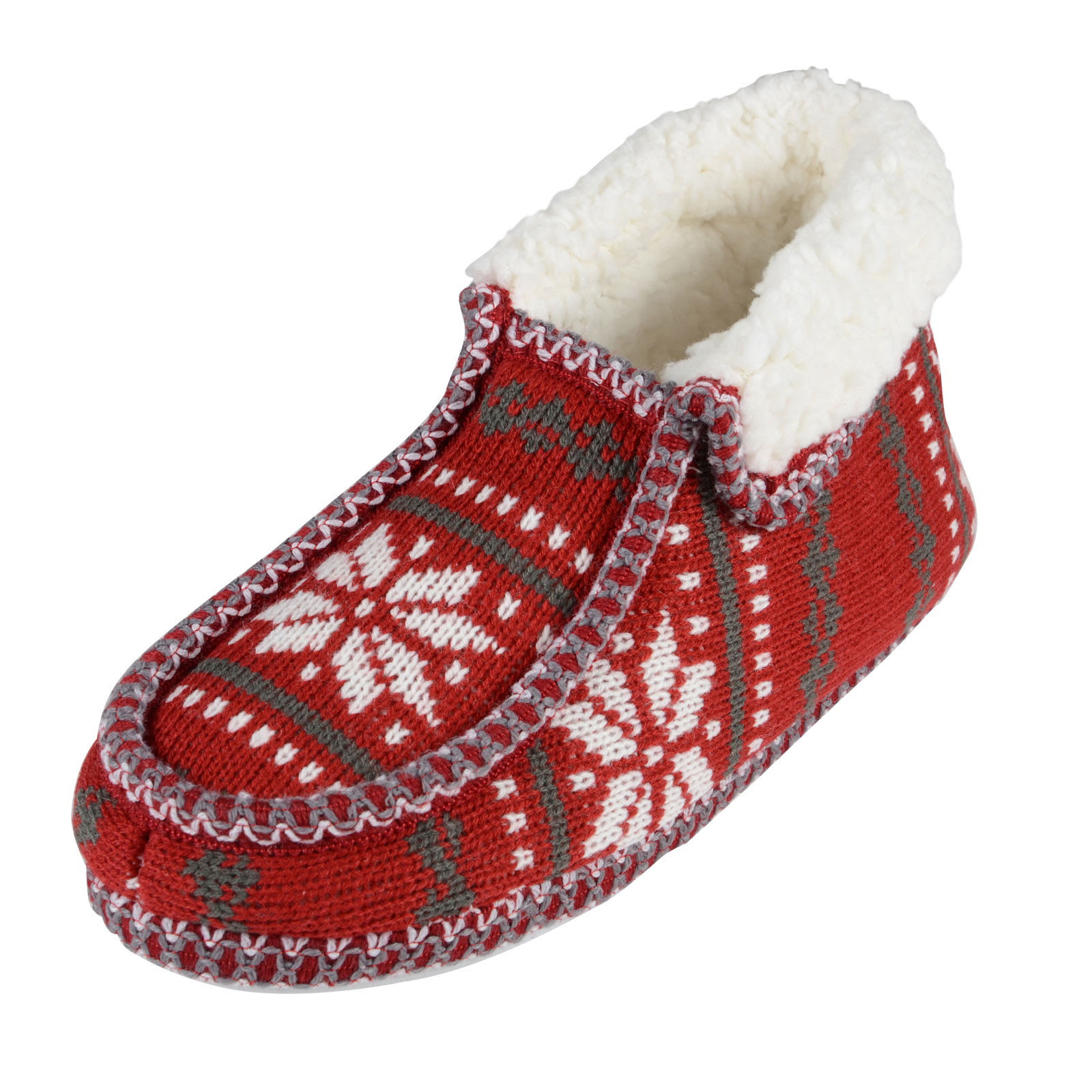 Awesome La S Boot Slippers Fairisle Knit Booties with Non Slip Knitted Slipper Boots Of Superb 41 Pics Knitted Slipper Boots