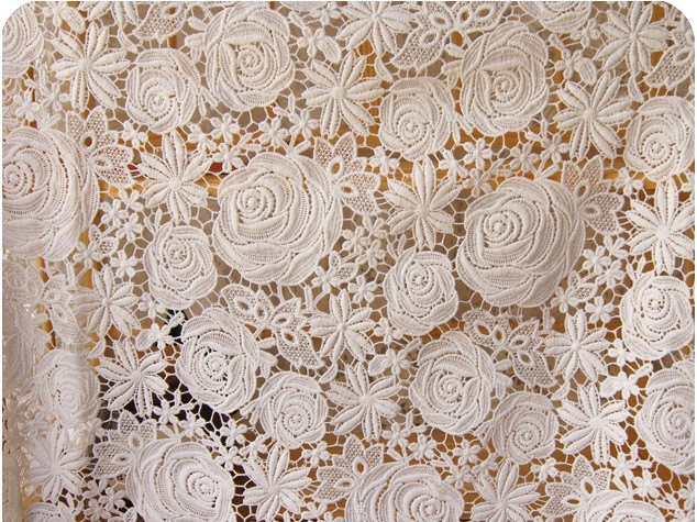 Awesome Lace Fabrics with Retro Roses Floral Crocheted Lace Fabric Crochet Lace Fabric Of Attractive 45 Images Crochet Lace Fabric