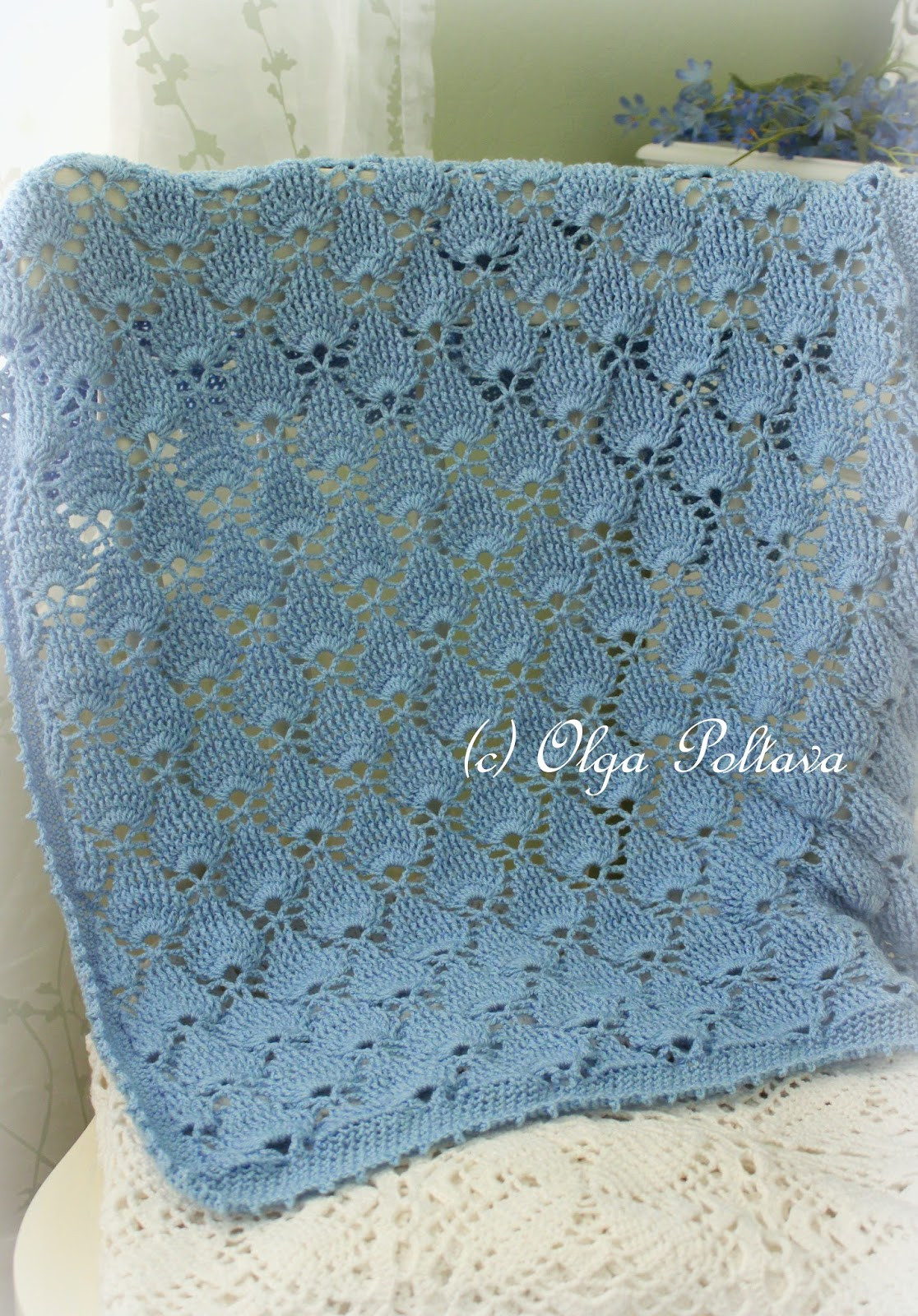 Awesome Lacy Crochet Blue Lace Baby Blanket Motif Blanket Of Contemporary 49 Models Motif Blanket