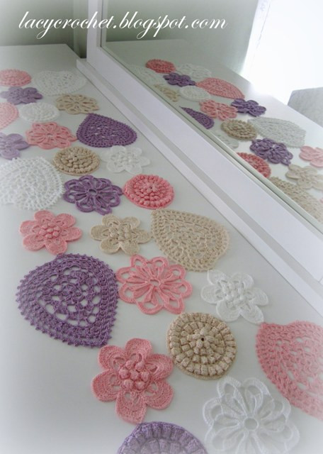 Awesome Lacy Crochet Hearts and Flowers Table Runner Crochet Table Runners Of Gorgeous 50 Models Crochet Table Runners