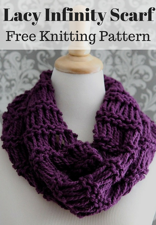 Awesome Lacy Infinity Scarf Free Knitting Pattern Lace Knit Scarf Of Delightful 46 Images Lace Knit Scarf