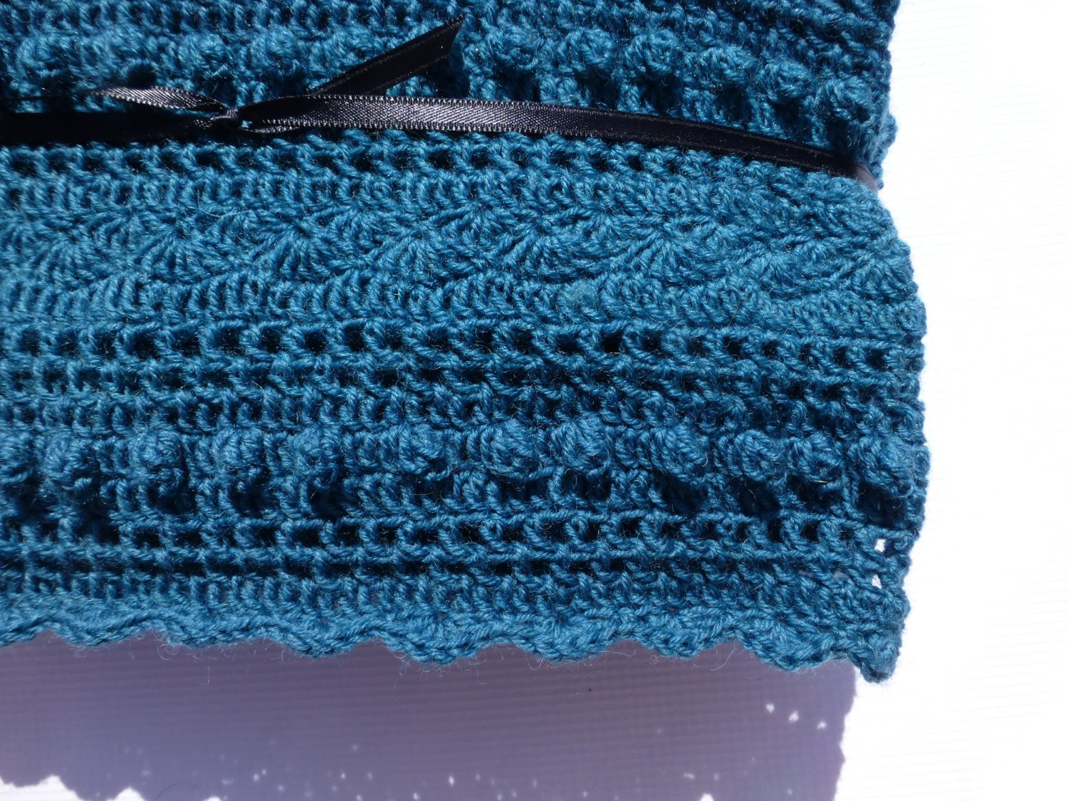 Awesome Lacy Teal Baby Blanket Hand Crocheted Lace Blanket by Babydear Lace Blanket Of Great 41 Ideas Lace Blanket