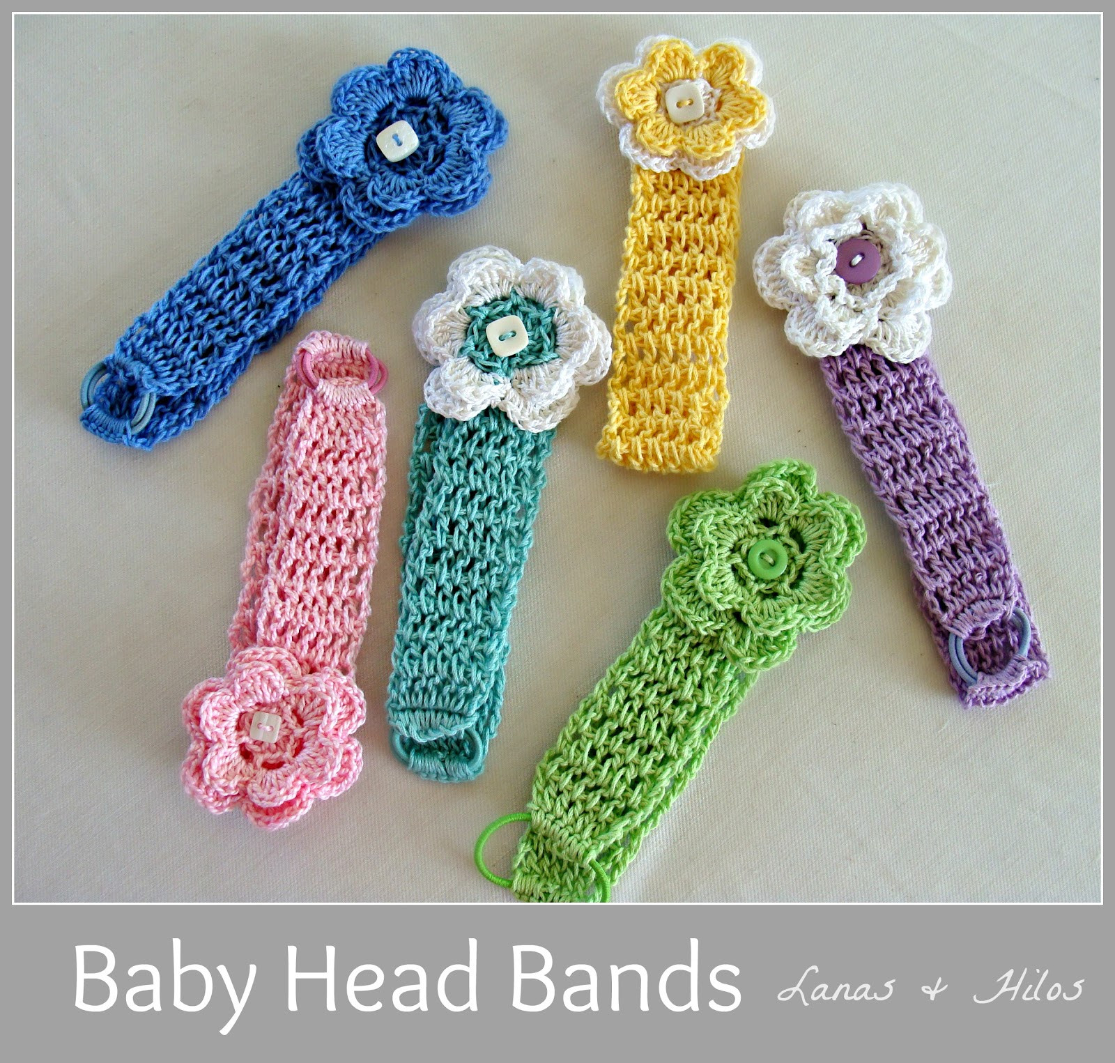 Awesome Lanas Hilos Baby Head Bands Crochet Bands Of Adorable 46 Pics Crochet Bands
