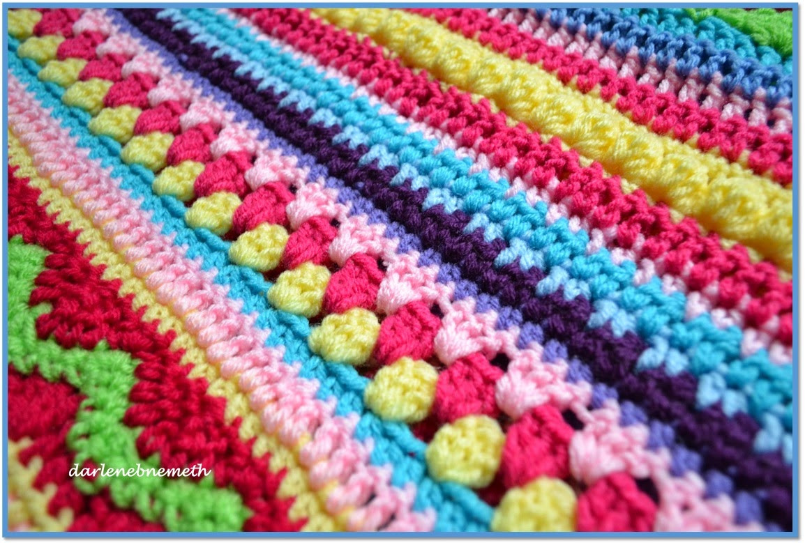 Let It Shine Crocheted Stitch Sampler Blanket