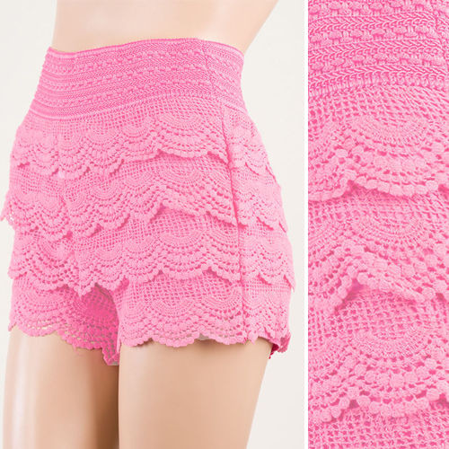 Awesome Light Pink Crochet Lace Tiered Lace Short Skirt Pants Crochet Lace Shorts Of Unique 47 Photos Crochet Lace Shorts