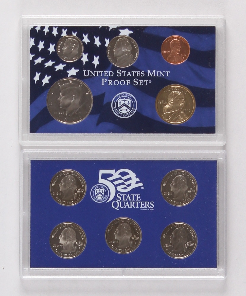 Awesome Line Sports Memorabilia Auction United States Mint Proof Set Of Charming 43 Photos United States Mint Proof Set