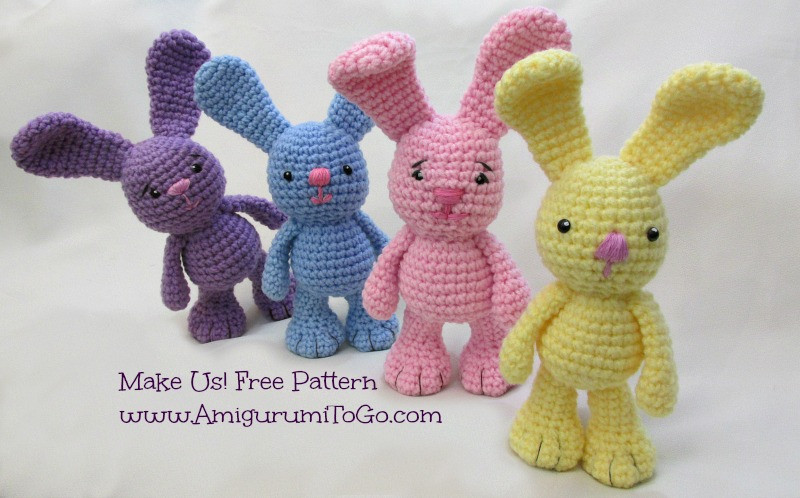 Awesome Little Bigfoot Bunny 2014 with Video Tutorial Amigurumi Crochet Rabbit Pattern Of Gorgeous 40 Images Crochet Rabbit Pattern