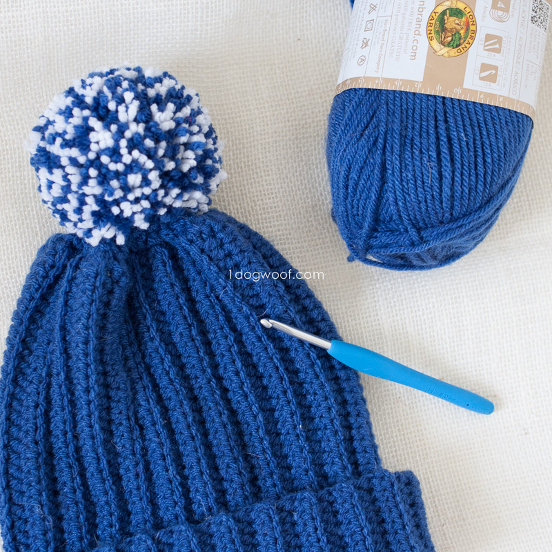 Awesome Lolly Poms Easy Ribbed Crochet Beanie E Dog Woof Easy Crochet Hat Patterns for Adults Of Delightful 48 Photos Easy Crochet Hat Patterns for Adults