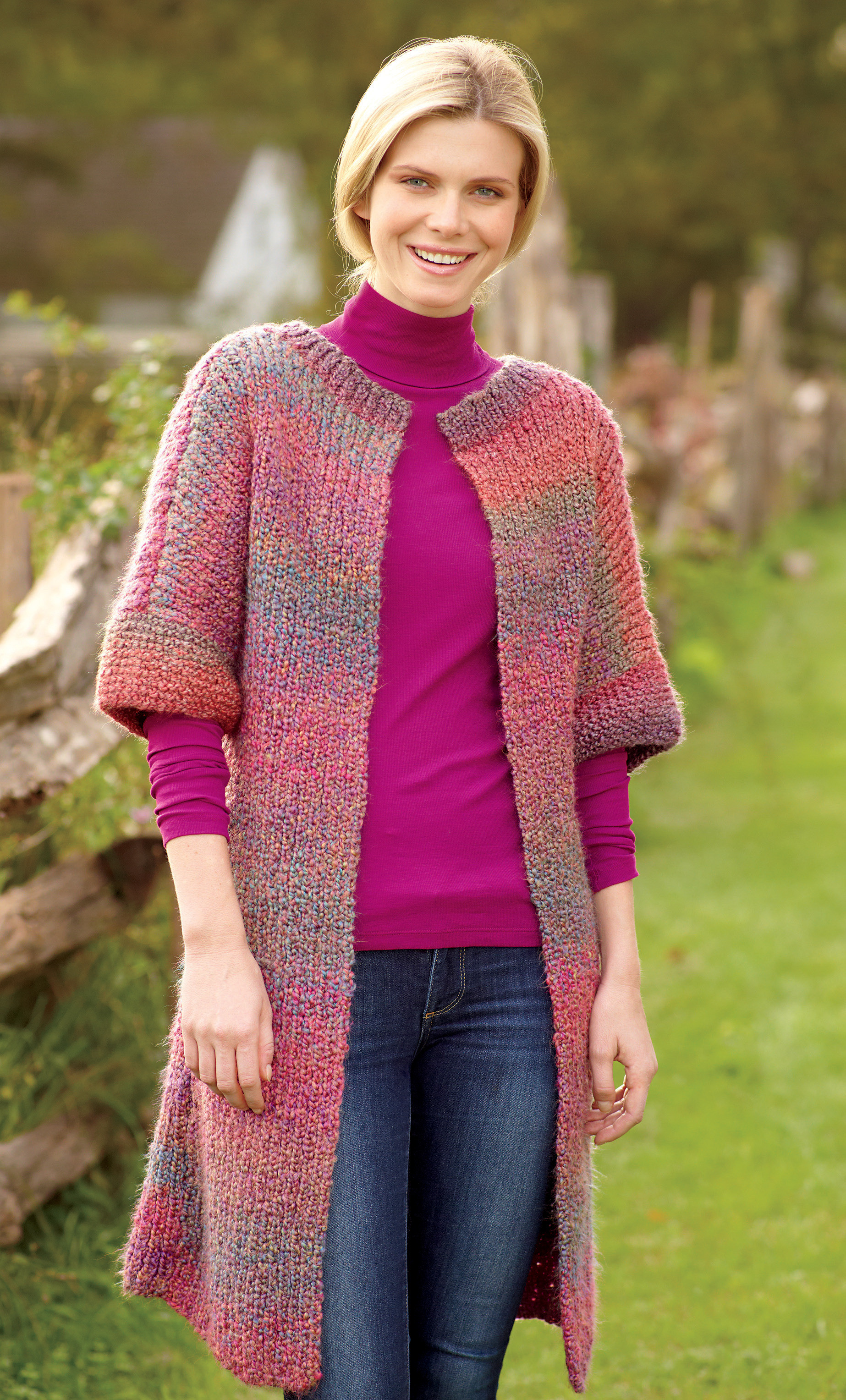Awesome Long & Lean Jacket In Lion Brand Homespun B Lion Brand Free Patterns Of Perfect 46 Pictures Lion Brand Free Patterns
