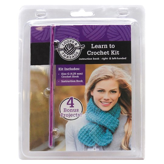 Loops & Threads Learn To Crochet Kit