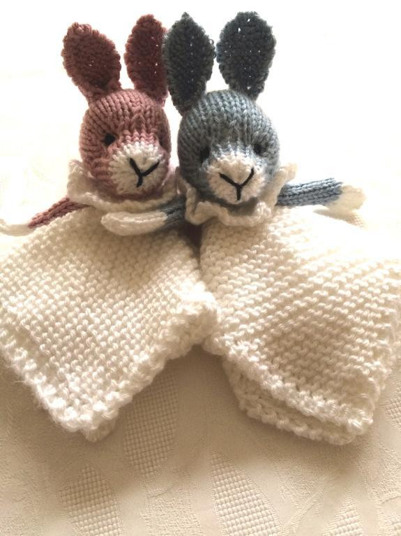 Awesome Lovey Security Blanket Knitting Patterns Knitted Bunny Pattern Of Unique 40 Pics Knitted Bunny Pattern