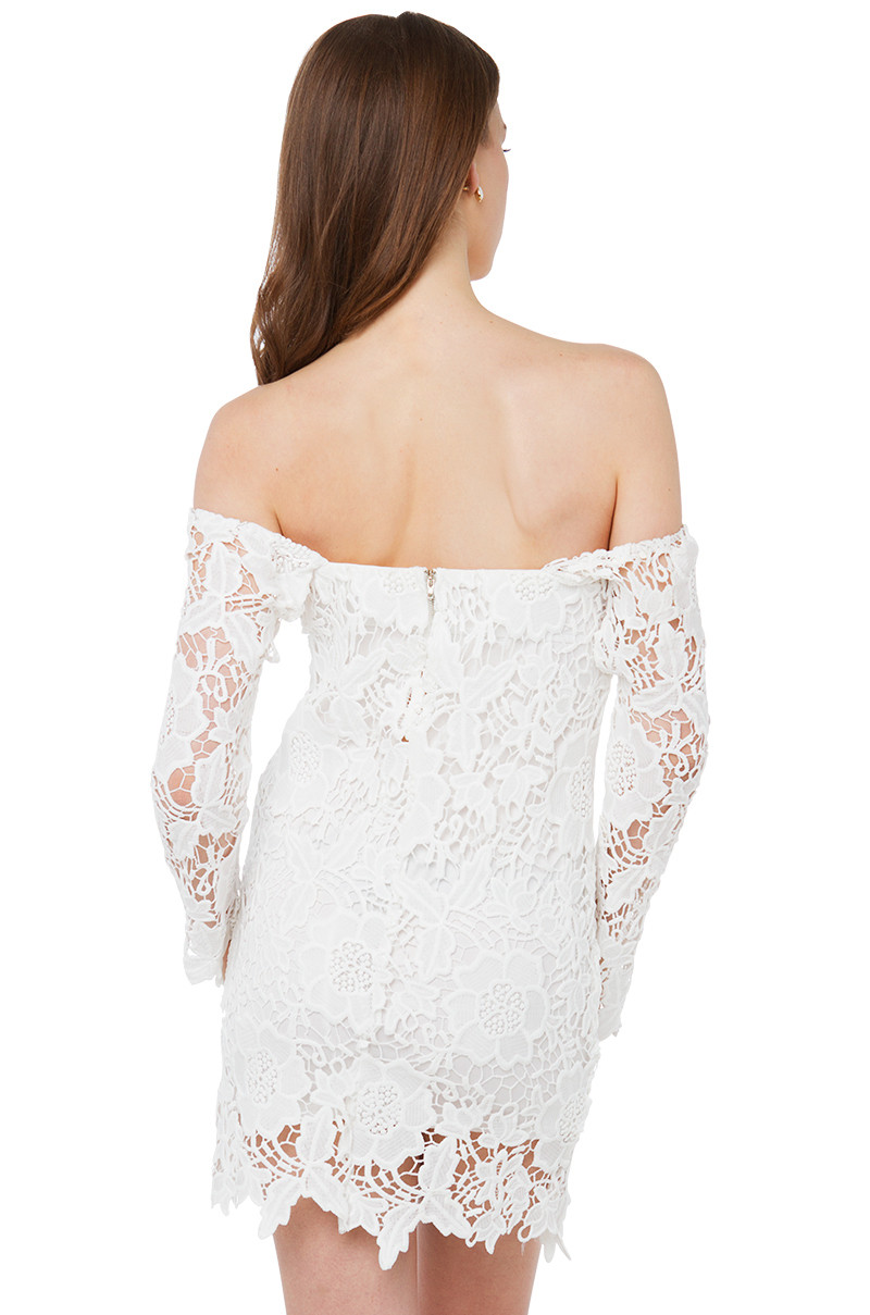 Awesome Lyst Akira Black Label Justifying Love F Shoulder Ivory Crochet Dress Of Brilliant 41 Ideas Ivory Crochet Dress