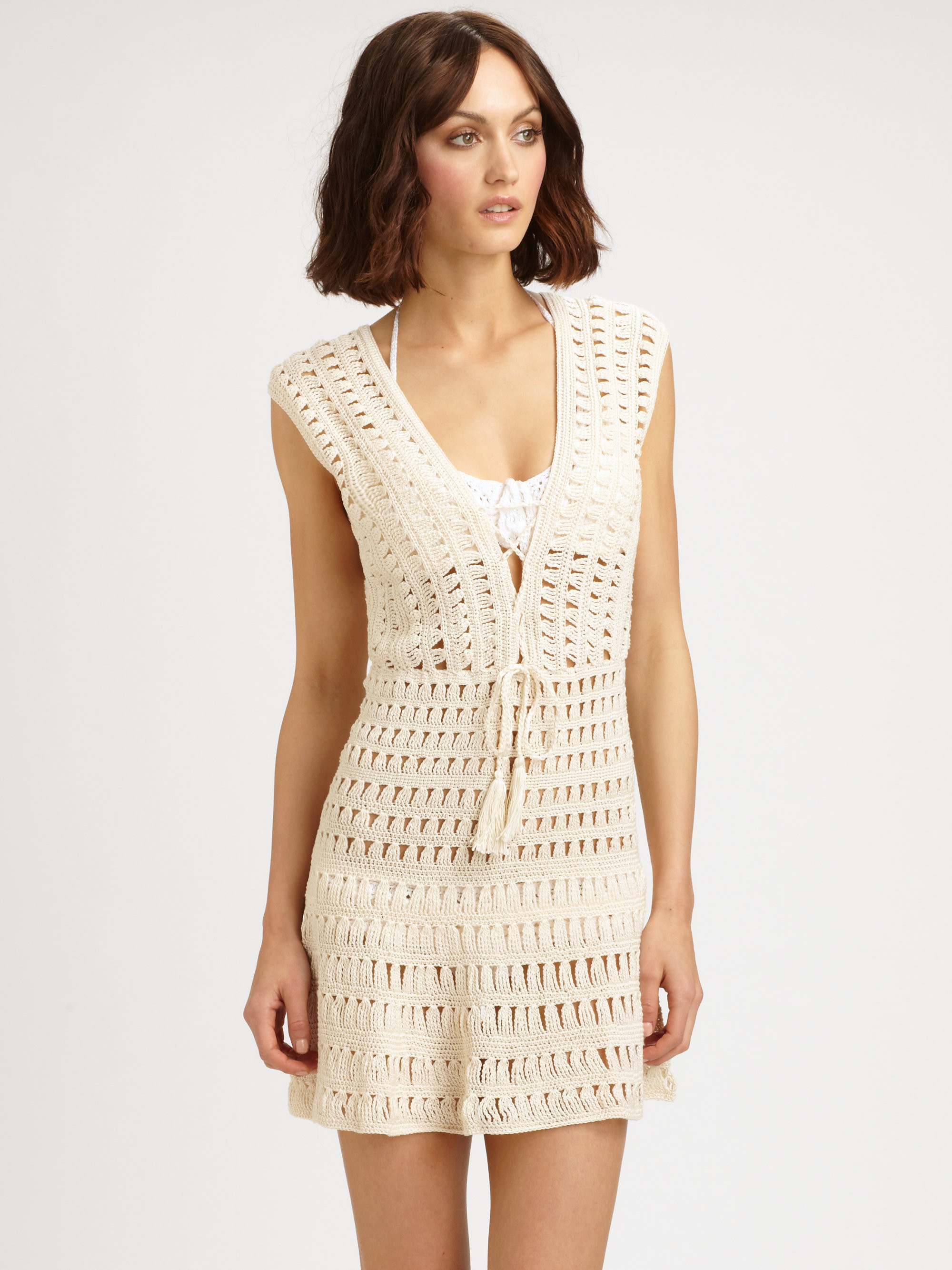 Lyst Anna Kosturova Crochet Dress in White