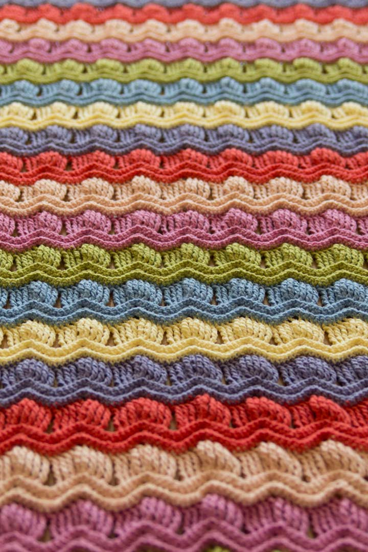 made vintage fan ripple blanket a creative being