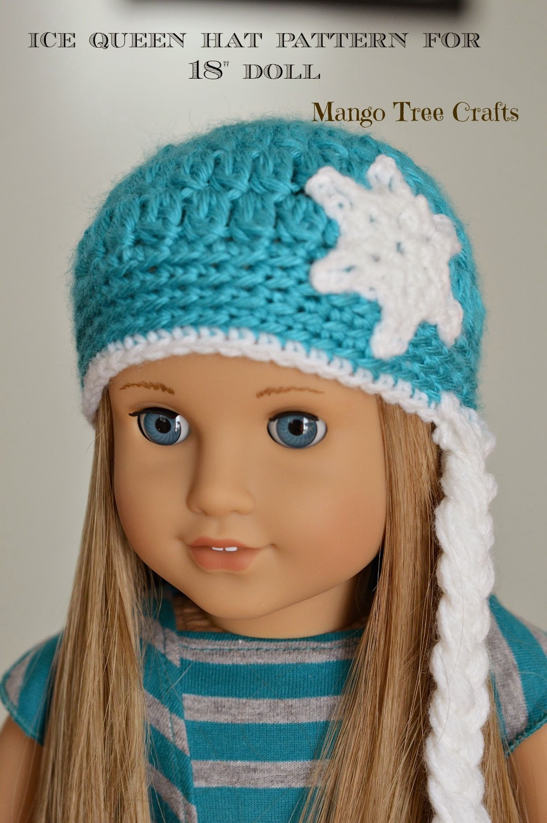 Mango Tree Crafts Ice Queen Crochet Hat Pattern for 18