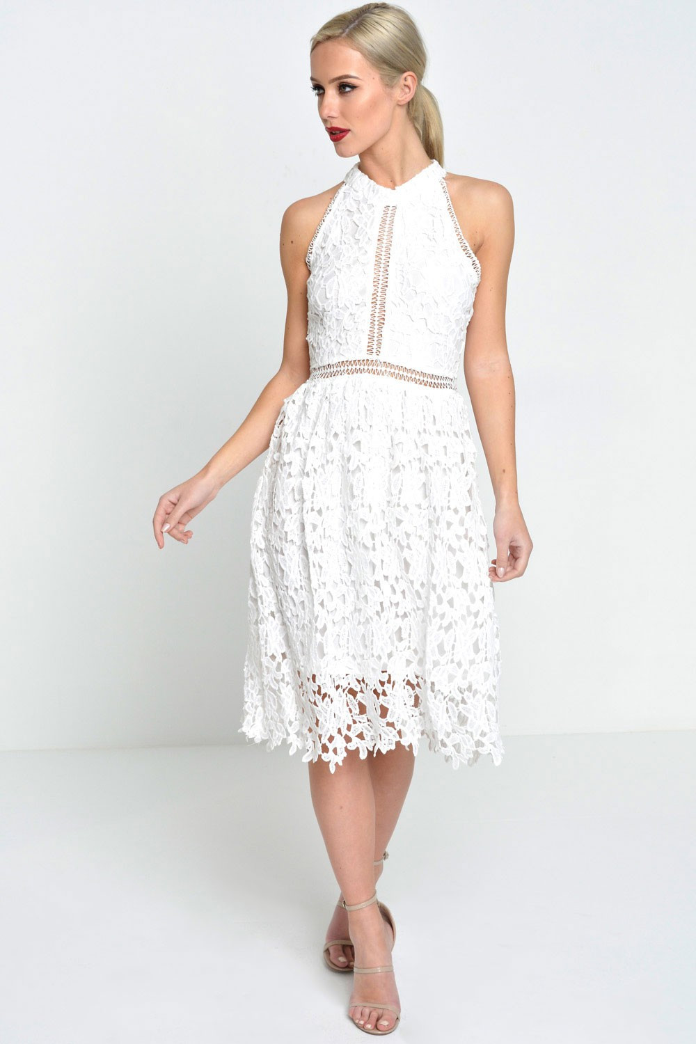 Awesome Marc Angelo Pippa Lace Crochet Halter Neck Dress In Ivory Crochet Halter Dress Of Incredible 49 Ideas Crochet Halter Dress