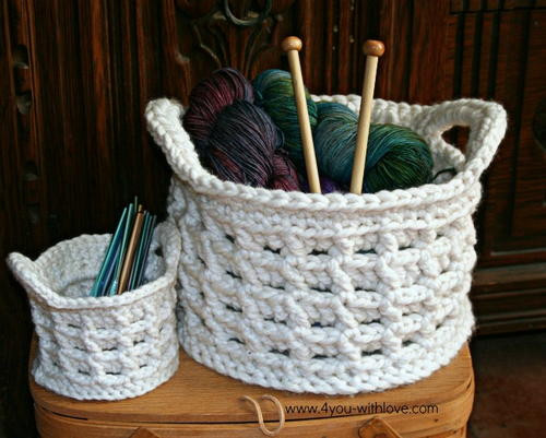 Awesome Mega Bulky Crochet Baskets Basket Stitch Of Lovely 48 Models Basket Stitch