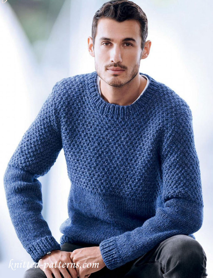 Men s sweater knitting pattern free
