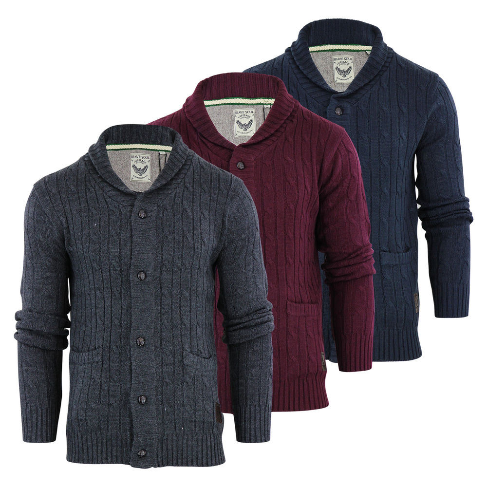 Awesome Mens Cardigan Jumper Brave soul Genghis Cable Knitted Mens Cable Cardigan Of Top 48 Pics Mens Cable Cardigan