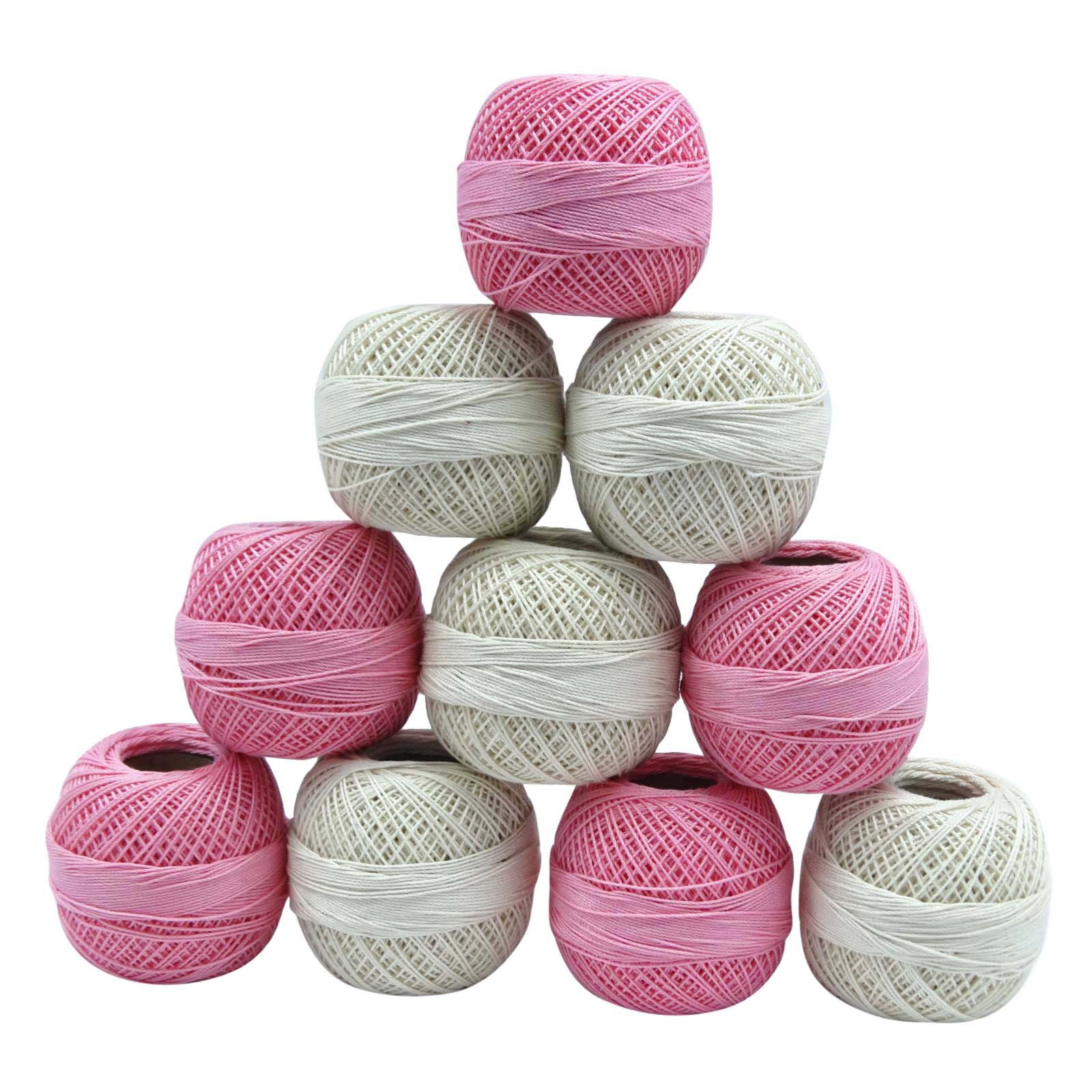 Awesome Mercerized Pink Cotton Crochet Yarn Embroidery Skeins Knitting Thread Of Amazing 48 Models Knitting Thread