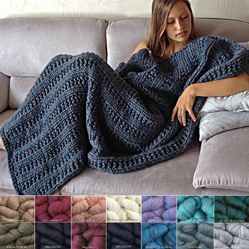 Awesome Merino Wool Blanket Knit Kit Super Bulky soft Chunky Thick Chunky Knit Blanket Kit Of Amazing 46 Images Chunky Knit Blanket Kit