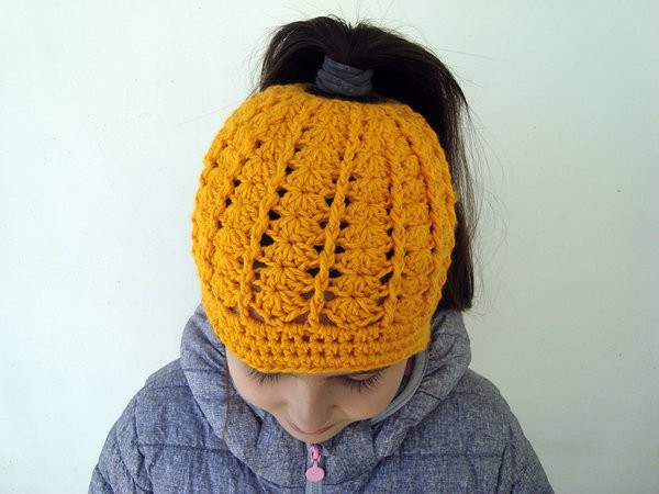Awesome Messy Bun Hat for Runners Ponytail Beanie for Girls and Bun Beanie Crochet Pattern Of Charming 42 Pics Bun Beanie Crochet Pattern