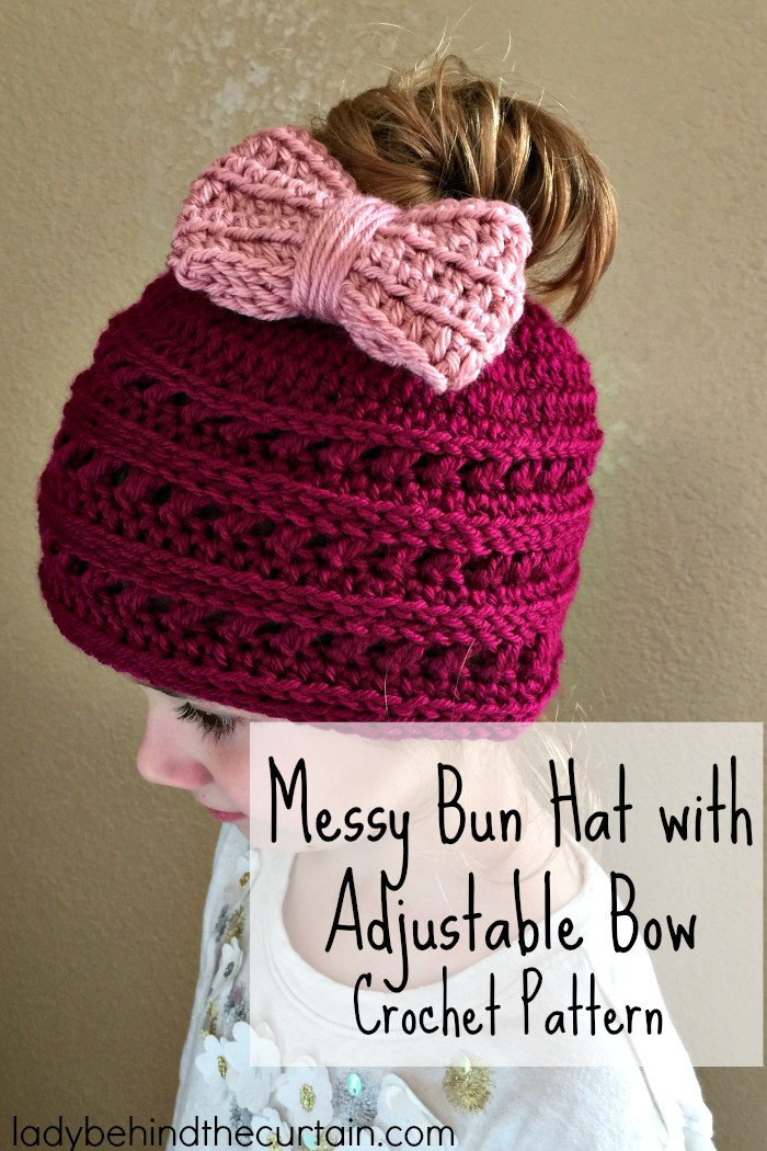 Awesome Messy Bun Hat with Adjustable Bow Crochet Pattern Crochet Messy Bun Of Contemporary 41 Images Crochet Messy Bun