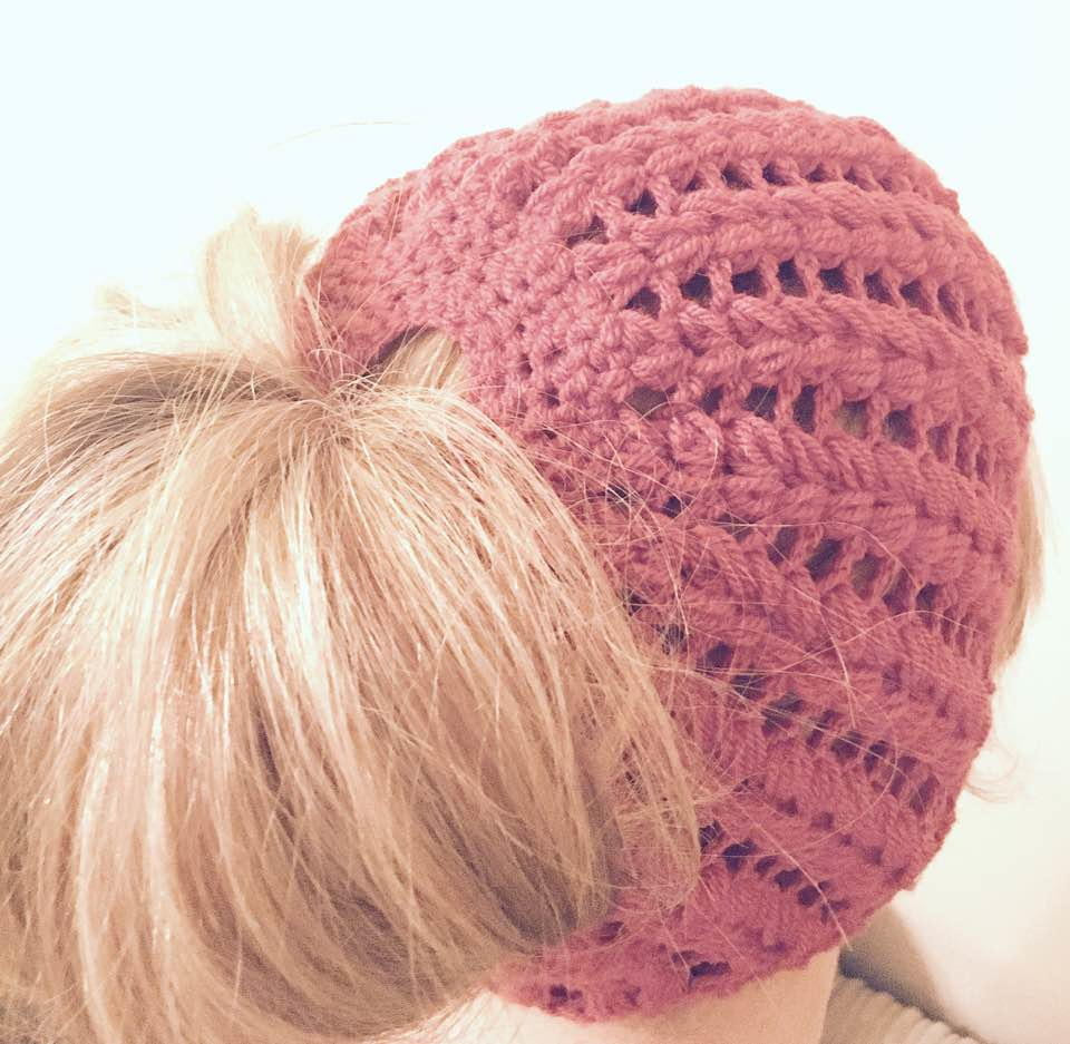 Awesome Messy Bun Puff Stitch Beanie Messy Bun Beanie Crochet Pattern Of Adorable 45 Pics Messy Bun Beanie Crochet Pattern