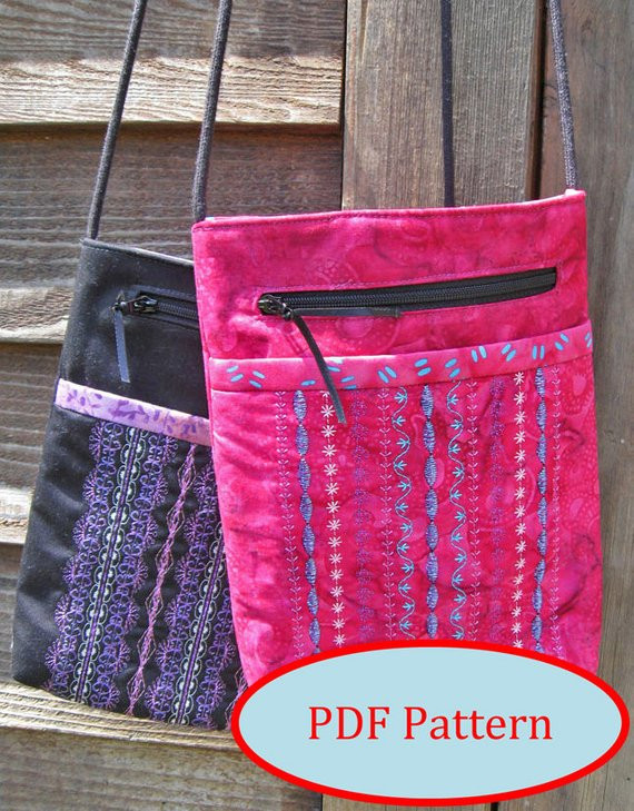 Awesome Mini Shoulder Bag Pdf Sewing Pattern Fat Quarter Friendly Shoulder Bag Patterns Of Contemporary 47 Pictures Shoulder Bag Patterns