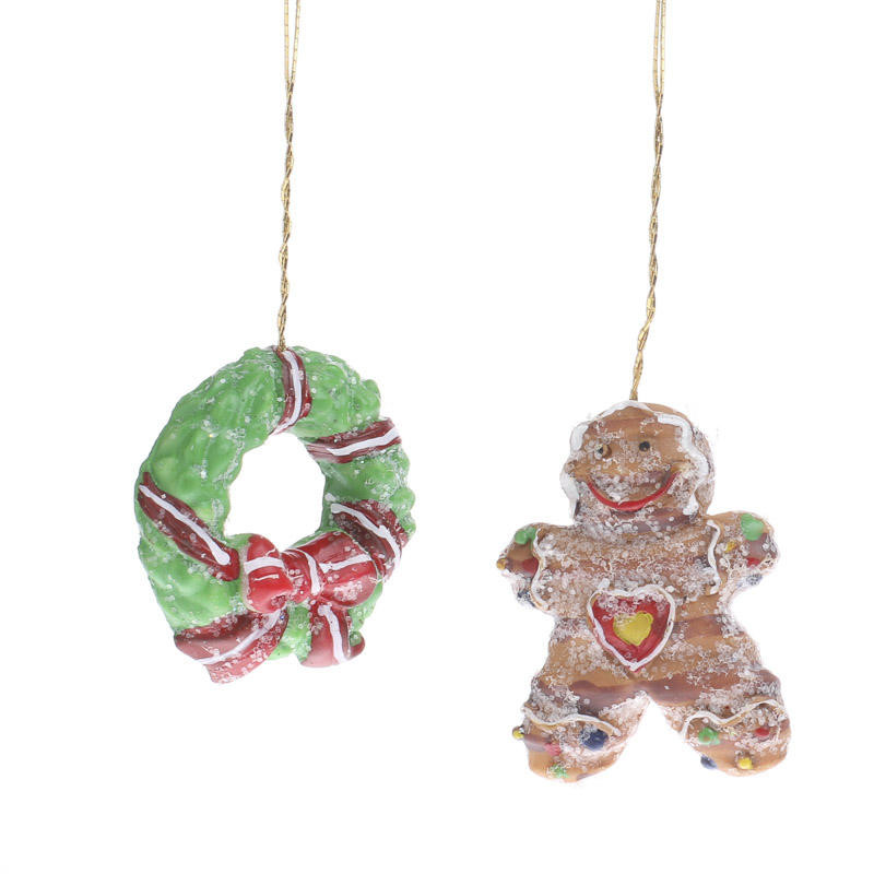 Awesome Miniature Christmas Wreath and Gingerbread Man ornaments Miniature Christmas Decorations Of Fresh 50 Pictures Miniature Christmas Decorations