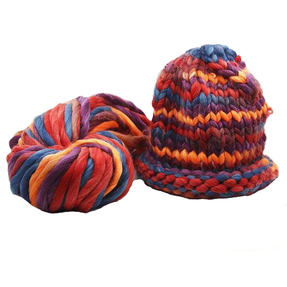 Awesome Mix Color Super Thick Woolen Chunky Yarn Bulky Roving Big Hand Crochet Yarn Of Delightful 43 Models Hand Crochet Yarn