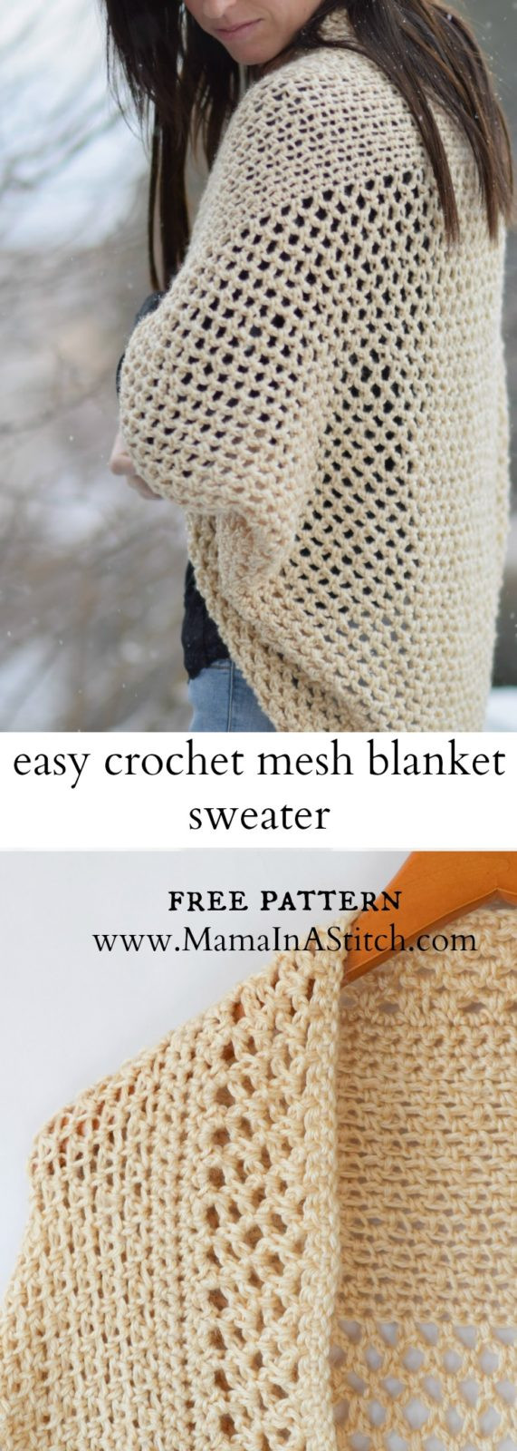 Awesome Mod Mesh Honey Blanket Sweater – Mama In A Stitch Easy Crochet Sweater Pattern Of Great 49 Pics Easy Crochet Sweater Pattern