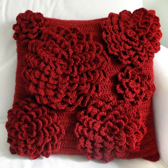 Awesome Multi Flower Pillow Cover Pdf Crochet Pattern Instant Crochet Pillow Covers Of Incredible 47 Pics Crochet Pillow Covers