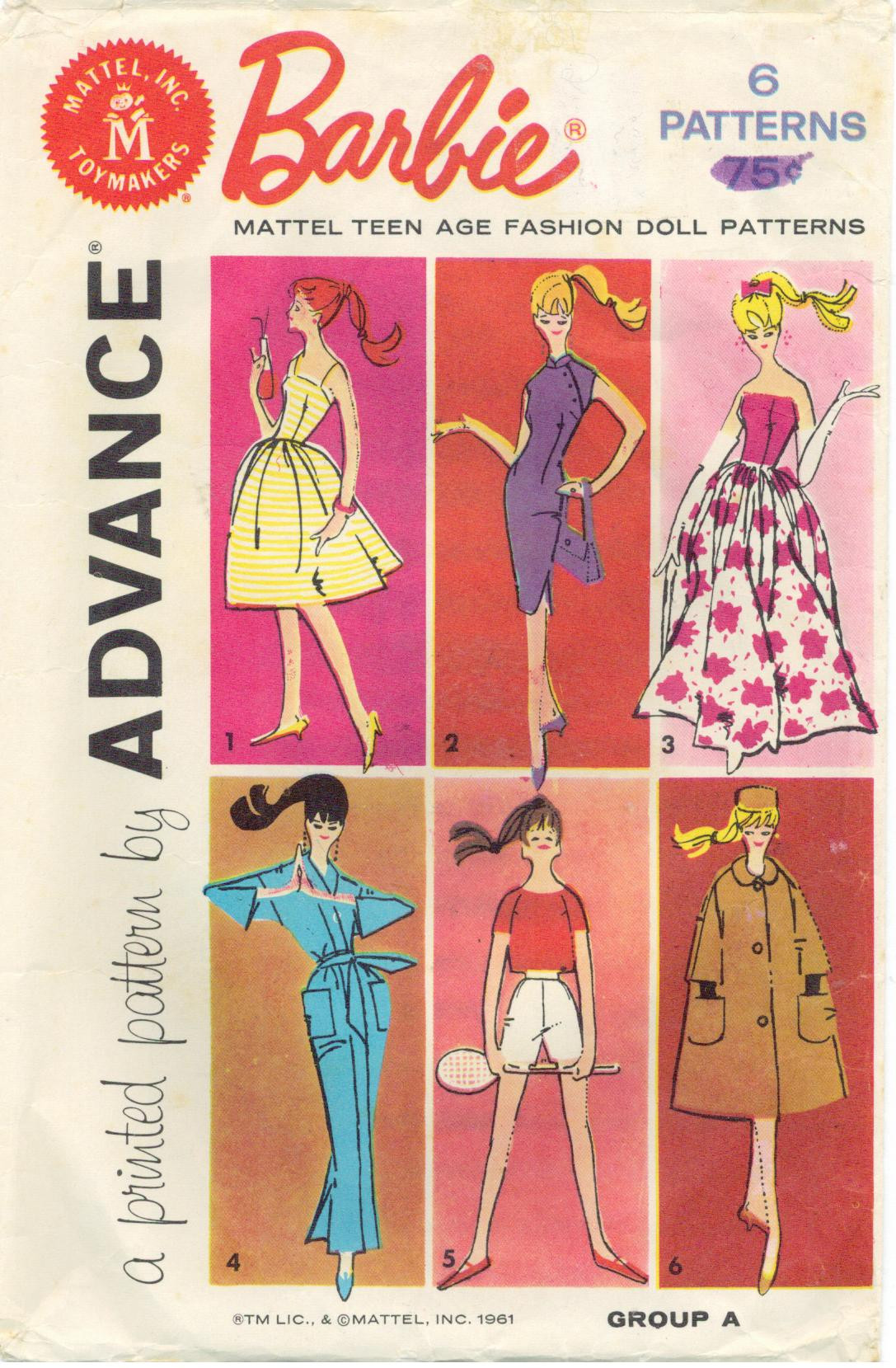 Awesome Musings From Marilyn Vintage 60s Barbie Doll Sewing Barbie Doll Clothes Patterns Of Contemporary 50 Pictures Barbie Doll Clothes Patterns