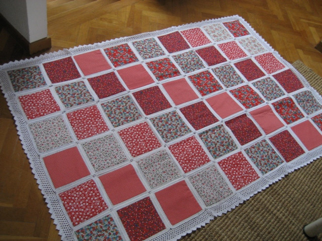 Awesome My Crocheted Quilt Tutorial Pics Crochet and Fabric Quilt Of Top 45 Models Crochet and Fabric Quilt