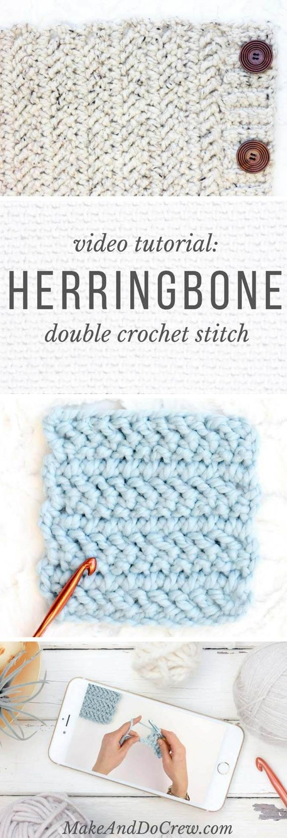 Awesome My Hobby is Crochet Video How to Crochet the Herringbone Double Crochet Stitch Video Of Great 40 Pictures Double Crochet Stitch Video
