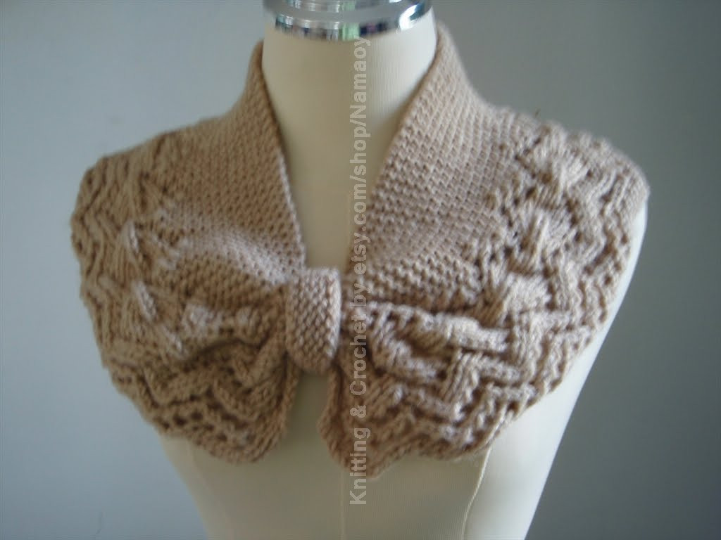 Myknittingdaily Knitting Neck warmer cowl cozy Light Brown
