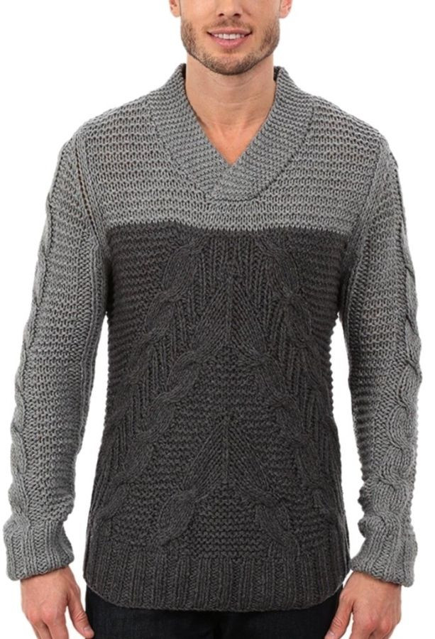 Awesome Nautica Gray Mens Size 2xl Colorblock Cable Knit V Neck V Neck Cable Knit Sweater Of Great 44 Pictures V Neck Cable Knit Sweater